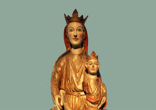 Madonna med barn frå Kyrkjebø kyrkje