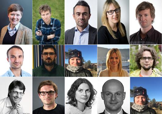 Samling av mange profilbilder av tidligere ph.d.-kandidater