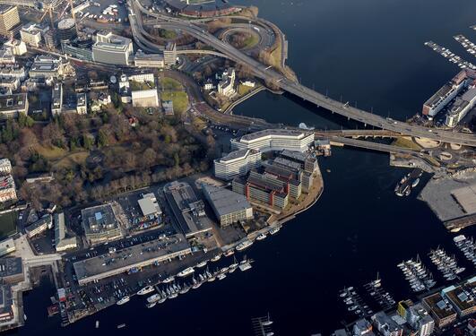Flyfoto av Marineholmen