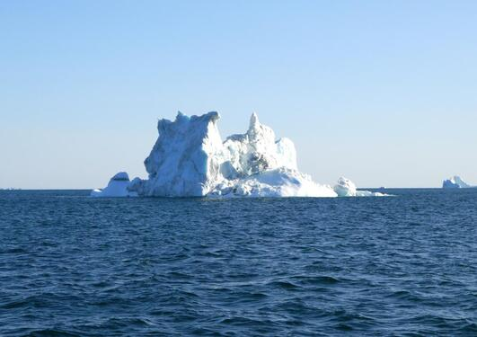 Ice berg off the coast of Greenland, photo taken during an expedition with climate researchers from the Bjerknes Centre for Climate Research.