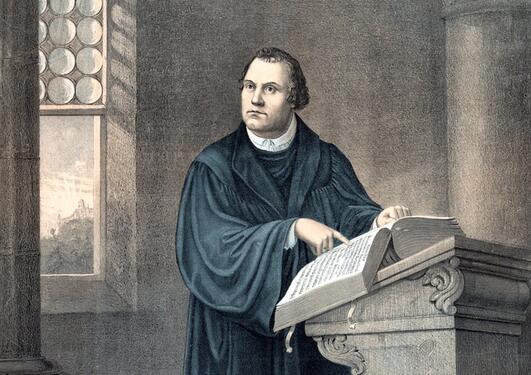 Tegning av Martin Luther