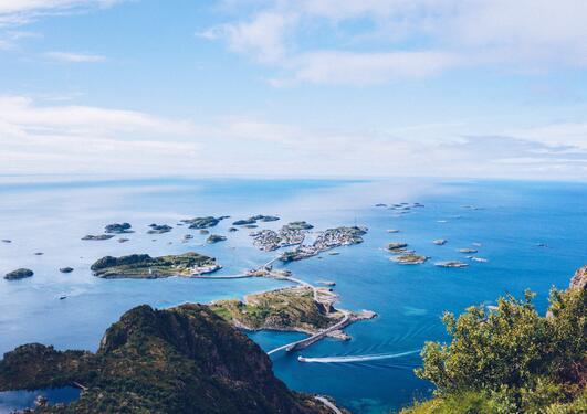 HENNINGSVÆR, utsikt over havet