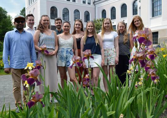Masterstudenter i Musehagen