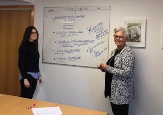 Veiledning, May Hauken og student Marthe Grue