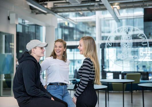 UiB-studentar i Media City Bergen
