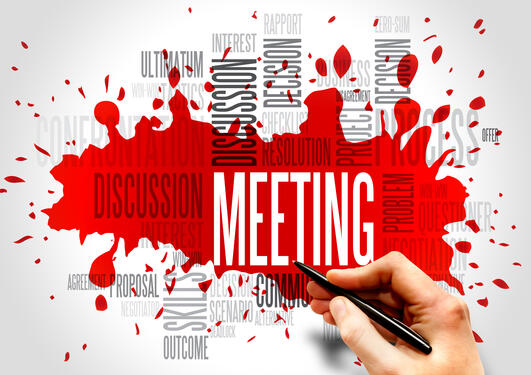 Meeting word cloud, business concept, stock photo