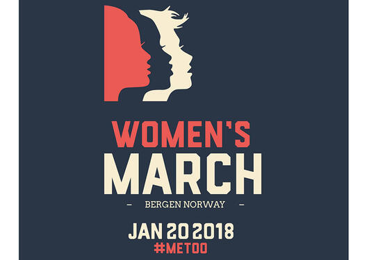 Plakat Women's march Bergen 2018