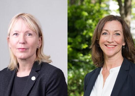 Portretter av Margareth Hagen og Elisabeth Maråk Støle