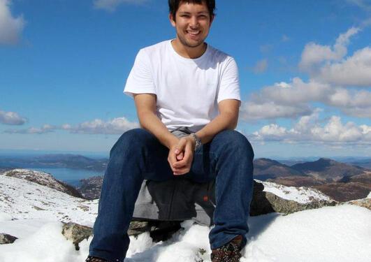 Daniel Hitchcock, master's student from Australia