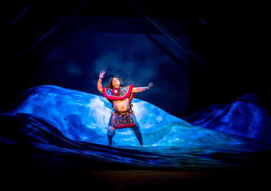 Fra forestillingen Moana: the Rising of the Sea på Festspillene I Bergen I mai 2015.