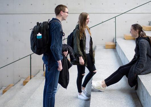 studenter i BB-bygget