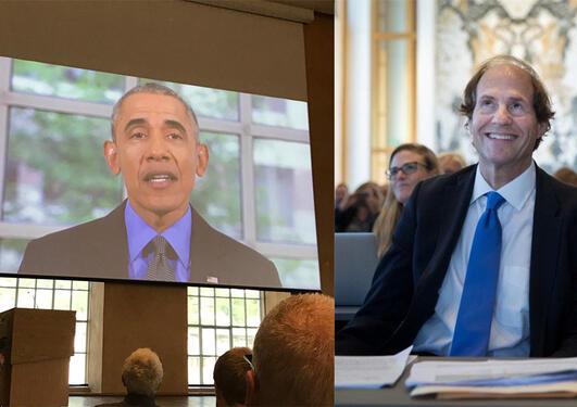 Obama med videohilsen til Cass Sunstein