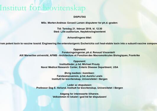 Faksimile av oppslaget om arrangement