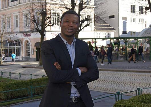 Master student Moses Mosonsieyiri Kansanga.