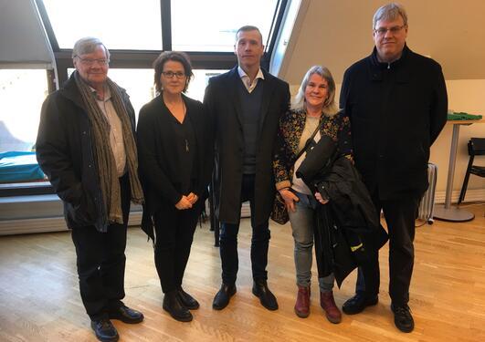Torben Fridberg, Anne Salonen, Ståle Pallesen, Ulla Romild og Daníel Ólason