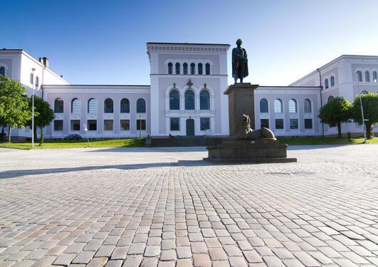 bilde av universitetsaulaen ved UiB