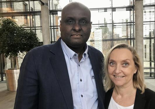Kamal Mustafa og Cecilie Gjerde