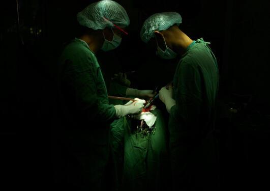 Kirurger i Etiopia under operasjon.