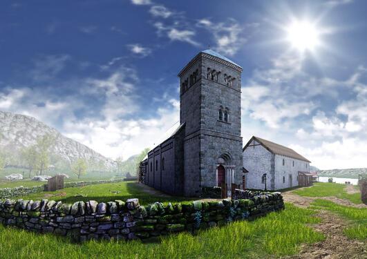 Nonneseter kloster visualisert av Arkikon