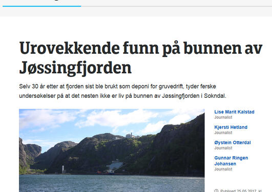 NRK gruvedrift deponi
