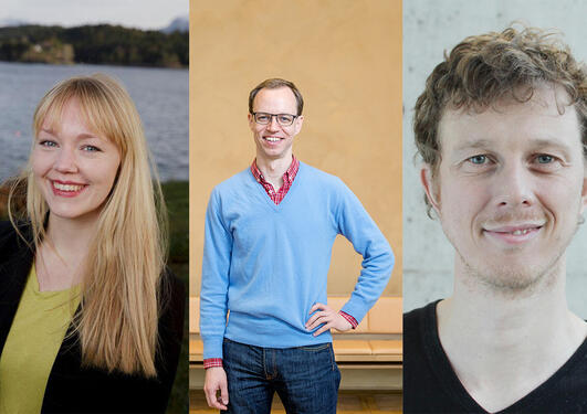 Elisabeth Flo, Georg Picot, Nils Halberg