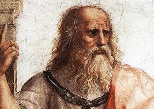 """Utsnitt fra """"in the Schoole of Athens fresco"""" av Raphael"""