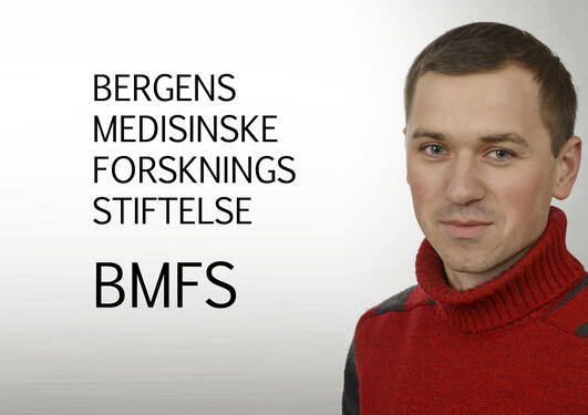 Bergens medisinske forskningsstiftelse og bildet av Oleksii Nikolaienko