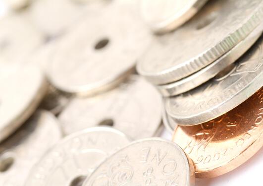 Bilde av norske mynter