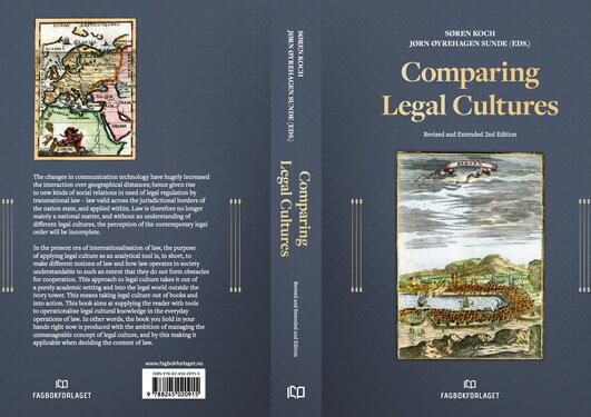 Illustrasjon: Omslaget av boken Comparing legal cultures