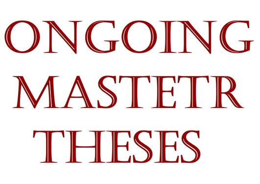 Optimization - Ongoing master theses