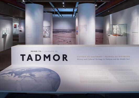 """Et oversiktsbilde fra utstillingen """"Reiser til Tadmor"""""""