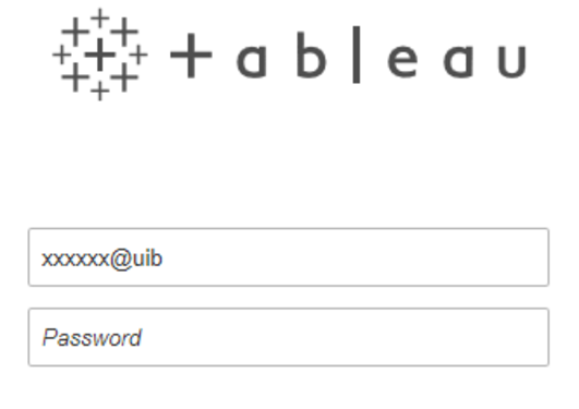 Påloggingsbilde Tableau Server