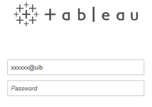 Påloggingsbilde Tableau Server