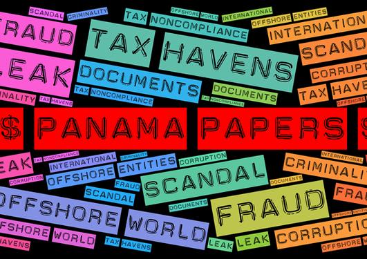 Ordsky med ordet Panama papers i fokus