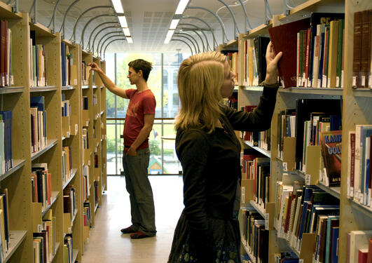 UiB, bibliotek for humaniora, bøker, bok, studenter