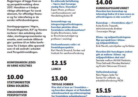 Program for Perspektivkonferansen 2016