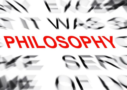 Ordet philosophy i en sky av tåkete ord