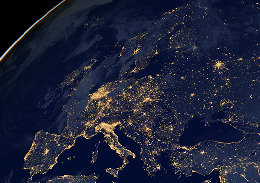 Sattelite view of Europe
