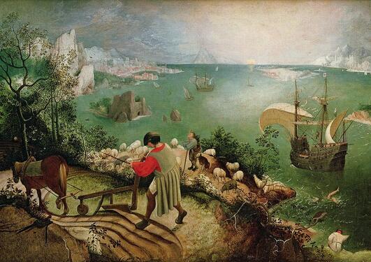 Bildet viser Ikaros sin drukning