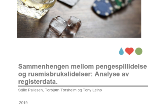 Sammenhengen mellom pengespillidelse og rusmisbrukslidelser: Analyse av registerdata