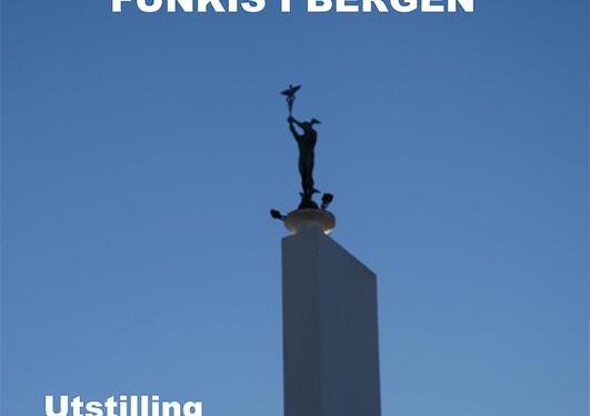 Utstillingsplakat til Funkis i Bergen