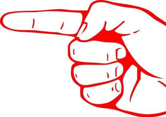 Tegning av en pekende finger