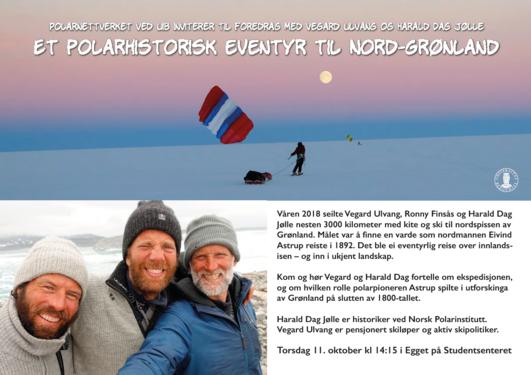 Polarnettverket ved UiB inviterer til foredrag med Vegard Ulvang og Harald Dag Jolle.