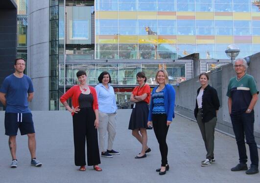 Bilde av forskerne fra UiB og HelseBergen som er med på samarbeidet