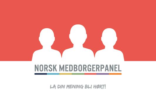 Rød logo Norsk medborgerpanel
