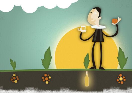 Illustrasjon av potetprest