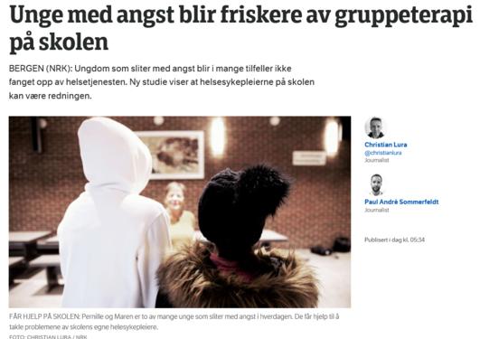 Bilde av artikkelen hentet fra nrk.no
