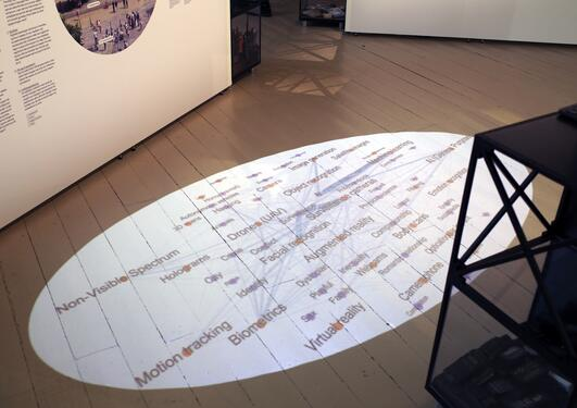 Projection on the exhibition floor