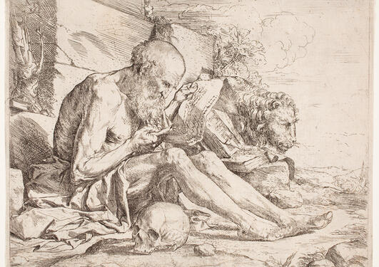 saint Jerome reading Milwaukee Art Museum