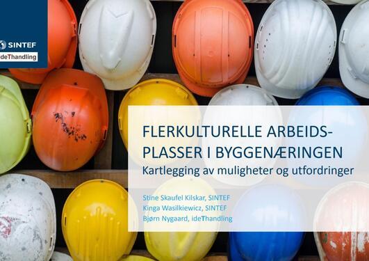 Forside rapport om Flerkulturelle arbeidsplasser i byggenæringen